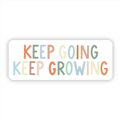 Keep Going Keep Growing Multicolor Sticker