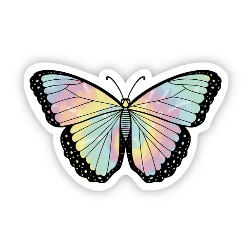 Tie Dye Butterfly Sticker