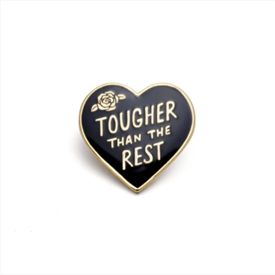 Tough Heart Enamel Pin
