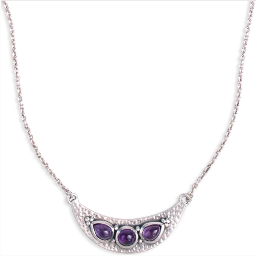 Luna Necklace (Silver & Amethyst)