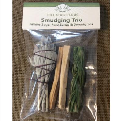 Smudging Trio (White Sage, Palo Santo & Sweetgrass)