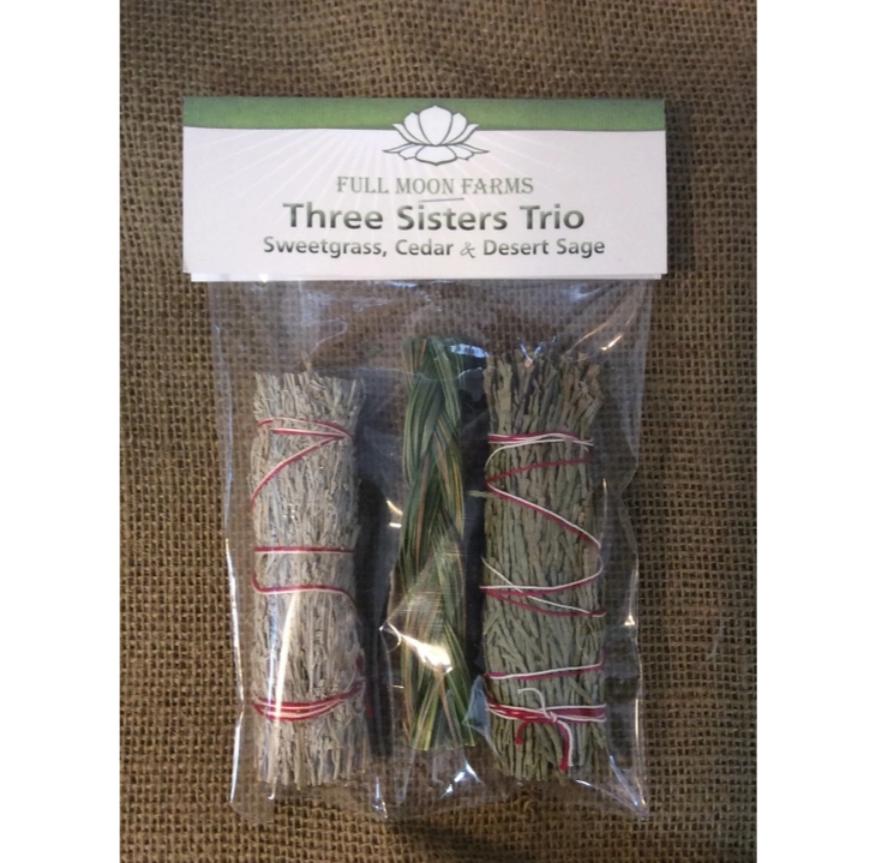 Three Sisters Trio (Sweetgrass, Cedar & Desert Sage)