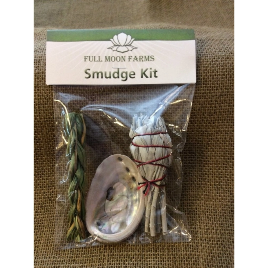 Mini Smudge Kit (White Sage, Sweetgrass & Abalone)