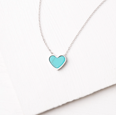 Bay Turquoise Heart Necklace