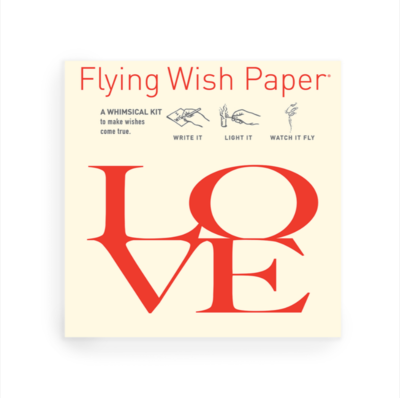 Love Letters Flying Wish Paper