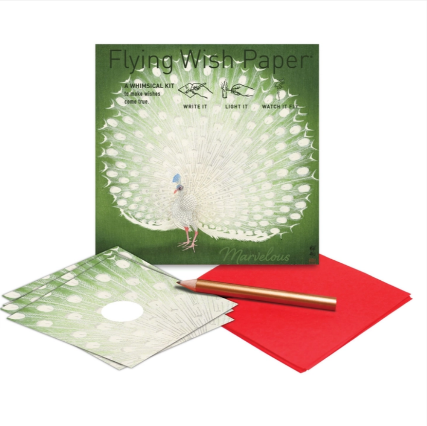 Peacock Flying Wish Paper