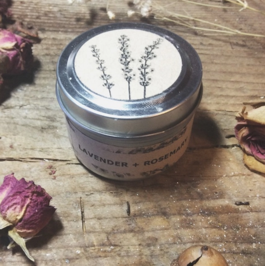 Lavender + Rosemary Travel Tin Candle