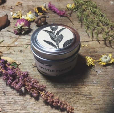 Mystic Forest Travel Tin Candle
