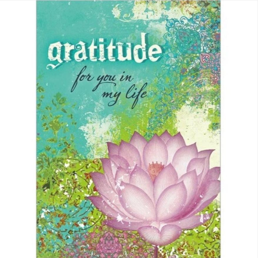 Gratitude Lotus Greeting Card