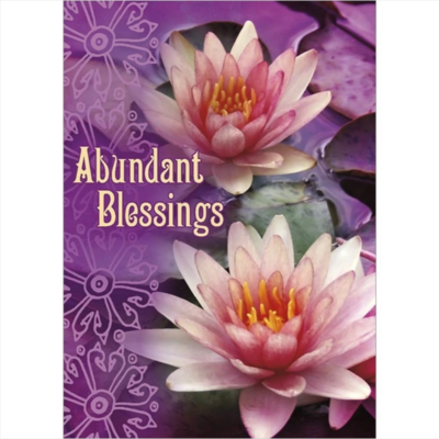Abundant Blessings Greeting Card
