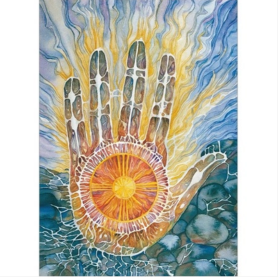 Medicine Hand Greeting Card