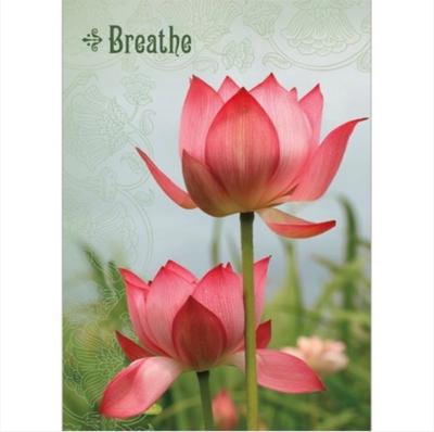 Breathe Lotus Greeting Card
