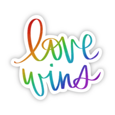 Love Wins Calligraphy Sticker
