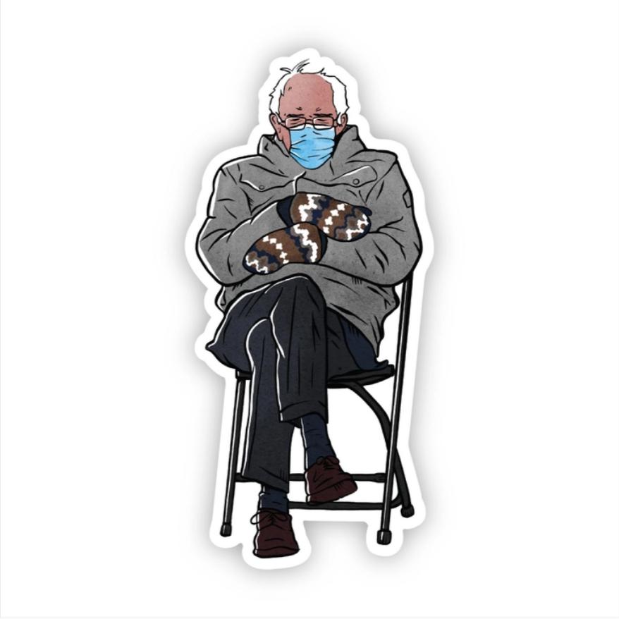 Bernie Sanders Chair Sticker