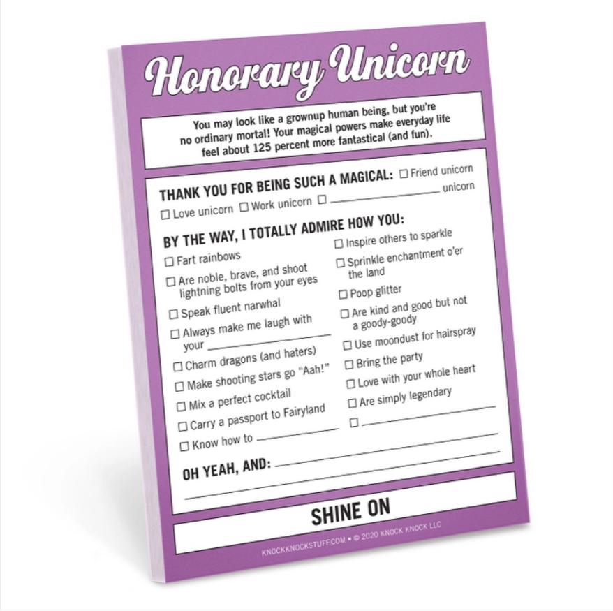 Honorary Unicorn Nifty Note