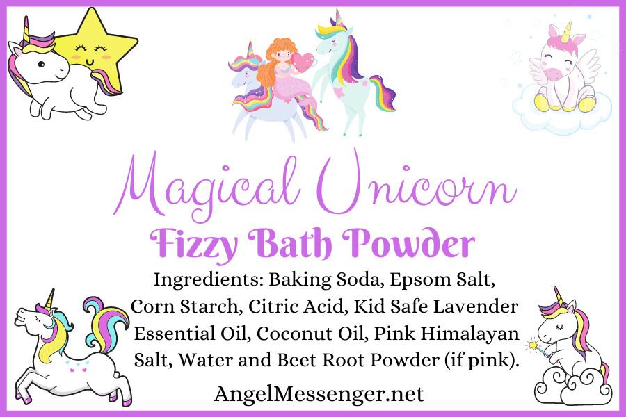 Magical Unicorn Fizzy Bath Powder (with a baby unicorn)