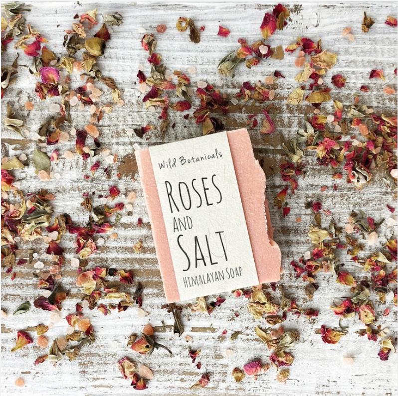Roses and Salt Himalayan Soap