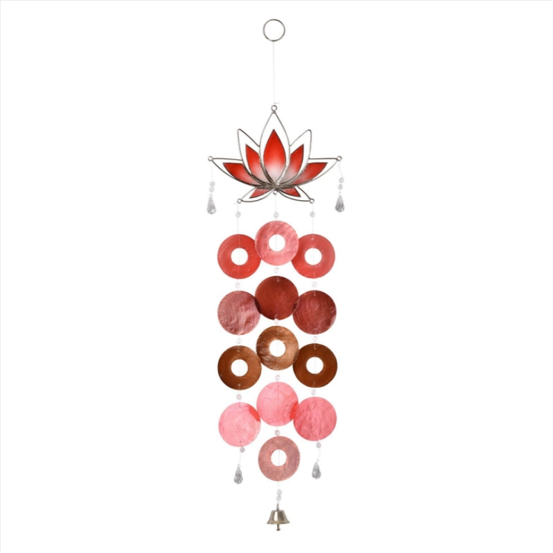 Red Lotus Capiz Chime
