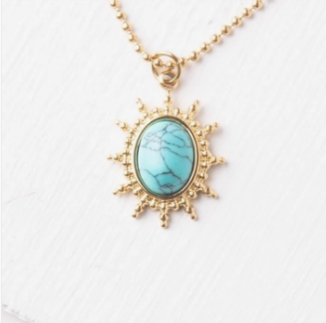 Courageous Necklace in Turquoise