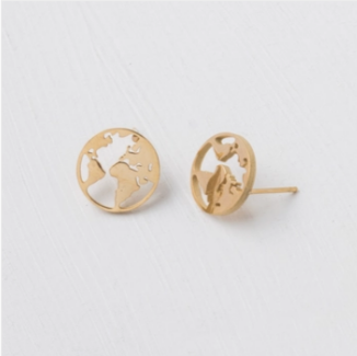 The Gold World Stud Earrings