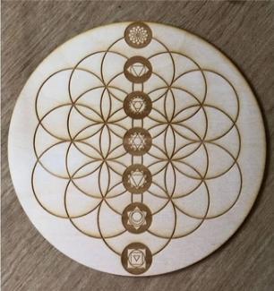 Flower of Life Chakras Crystal Grid