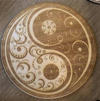 Yin Yang Mandala Crystal Grid
