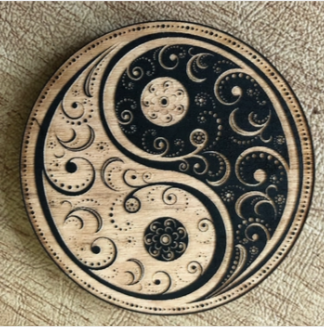 Yin Yang Mandala Magnet