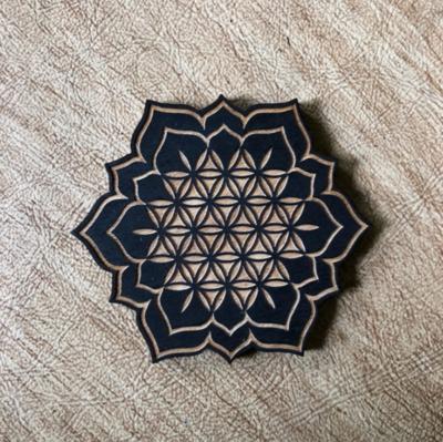 Flower of Life Lotus Magnet