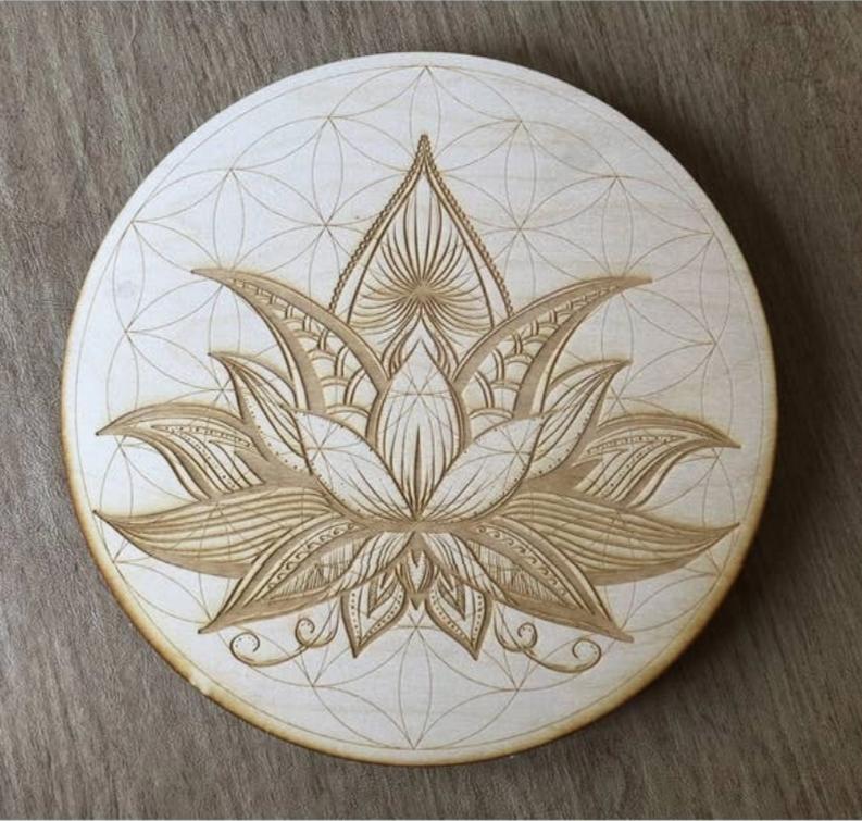 Flower of Life Lotus 2 Crystal Grid
