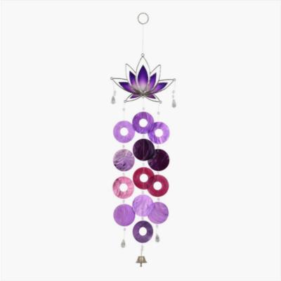 Purple Lotus Capiz Chime