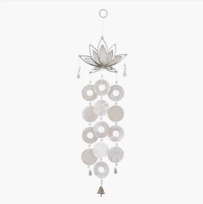 White Lotus Capiz Chime