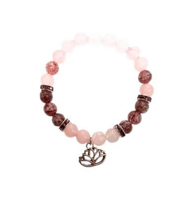 Lotus Flower Unconditional Love Beaded Bracelet