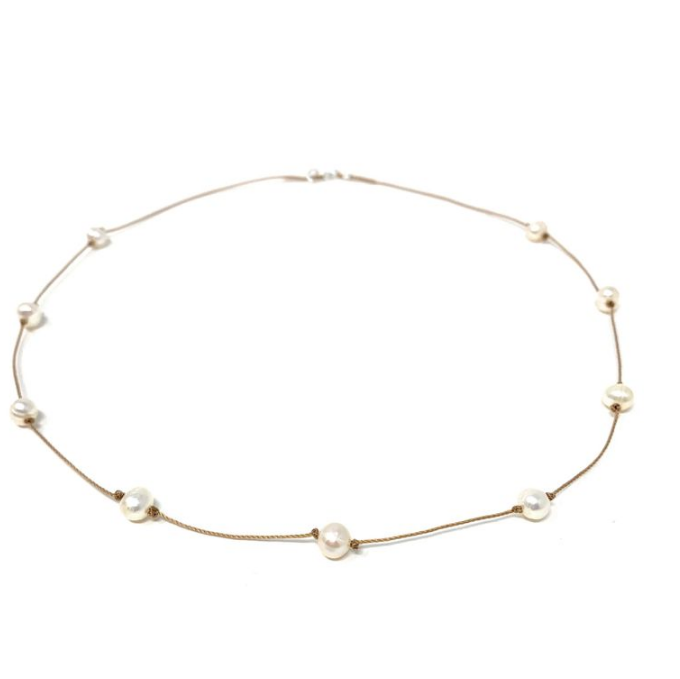 Small White Freshwater Pearls Necklace
