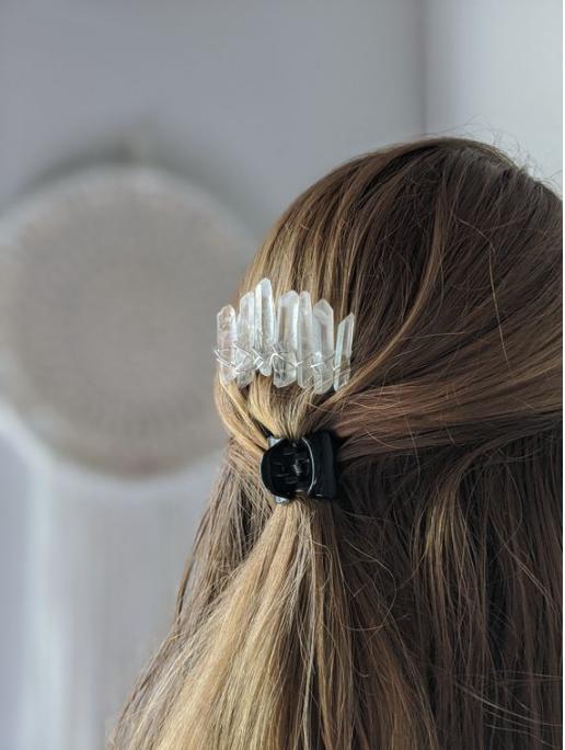 Quartz Crystal Hair Combs