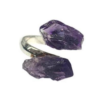 Amethyst Point Adjustable Ring