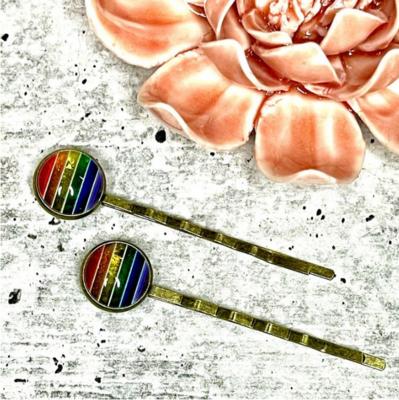 Rainbow Bobby Pins