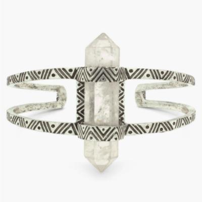 Quartz Crystal Cuff Bracelet
