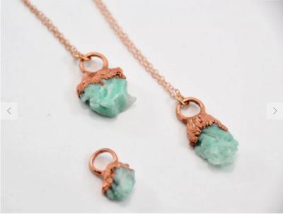 Copper Emerald Necklace