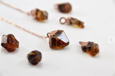 Copper Citrine Point Necklace
