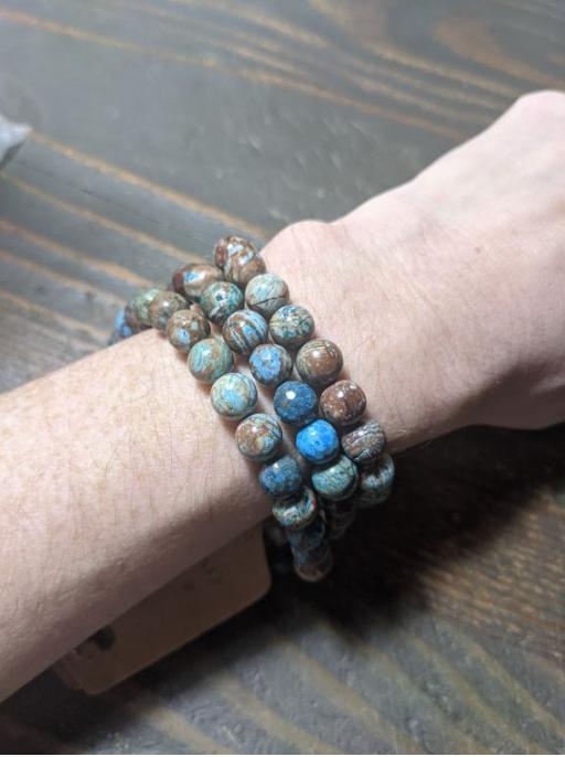Blue Crazy Lace Agate Bracelet