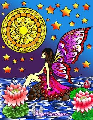 Angel Mandala Coloring Page