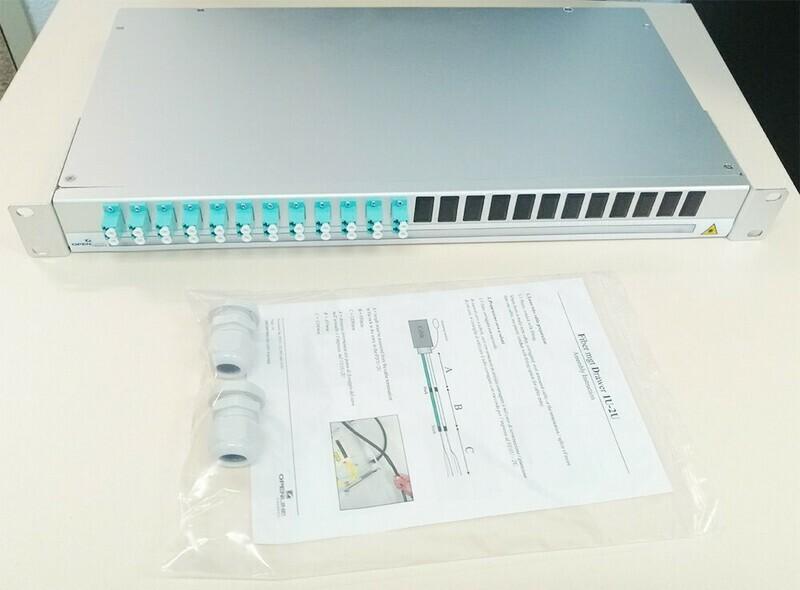 Fiber Mgt Dwr 1U 12 Adapter LD MM Aqua