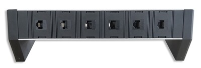 PDU Desk Line 1HE, 6 x RJ45 single Modul