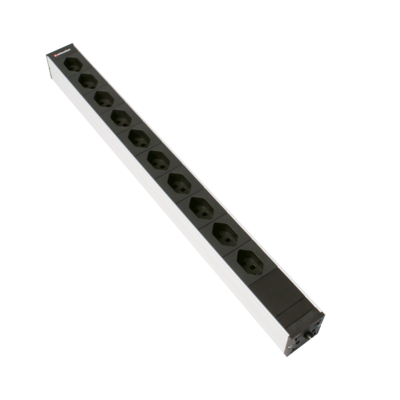 Steckdosenleiste 1HE 10×T23 schwarz Stecker C23