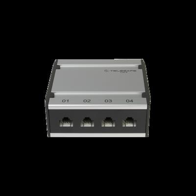 Patch box mini 4×RJ45 Kat.6 UTP, al-gu, ungeschirmt