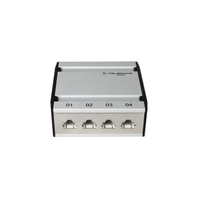 Patch box mini 4×RJ45 Kat.6 STP, al-gu, geschirmt