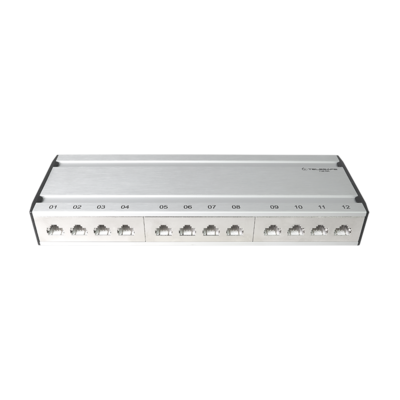 Patch box mini 12×RJ45 Kat.6 STP, al-gu, geschirmt