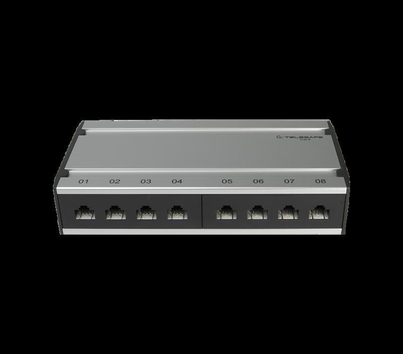 Patch box mini 8×RJ45 Kat.6 UTP, al-gu, ungeschirmt