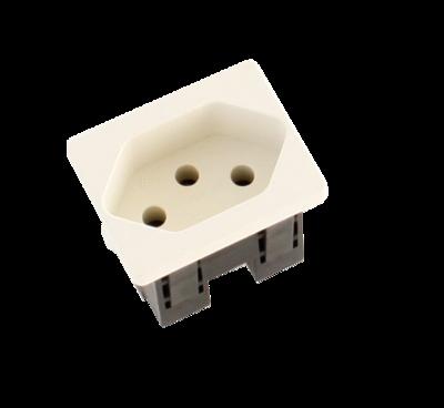 Steckdosenmodul FLF T13 weiss 1×T13