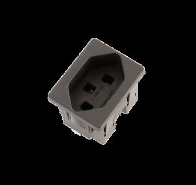 Steckdosenmodul FLF T23 schwarz 1×T23